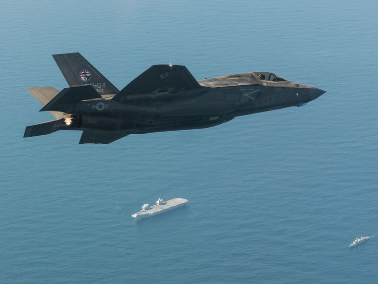 Royal Navy Commander, Nathan Gray, 41, made history by being the first to land his stealth jet on the deck