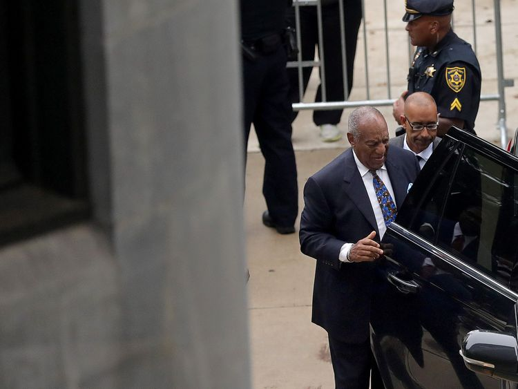 Bill Cosby arrives at the Montgomery County Courthouse for sentencing in his sexual assault trial in Norristown Pennsylvania