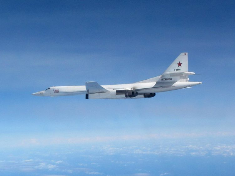 The two jets were monitored by the RAF and NATO allies as they came towards the UK. Pic MoD
