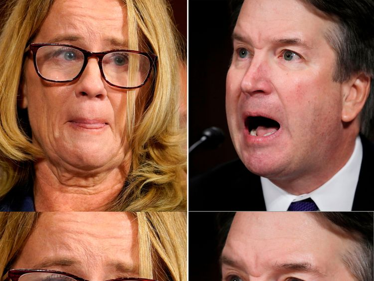 Key senators criticize Trump for mocking Kavanaugh accuser