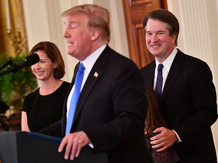 Mr Kavanaugh is Donald Trump's pick for the Supreme Court