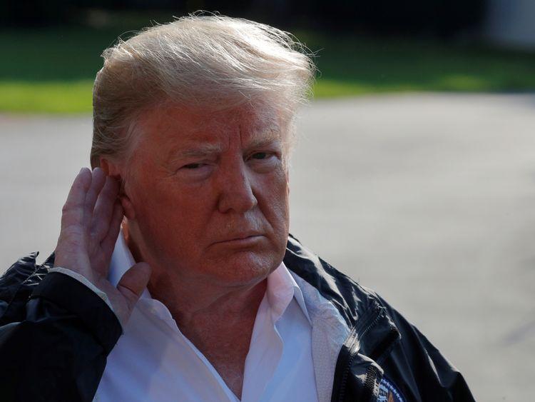 Mr Trump setting off to visit hurricane-ravaged areas