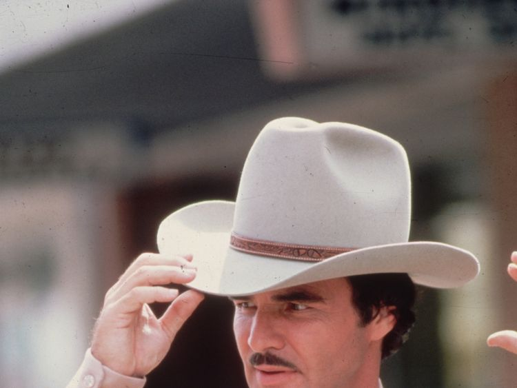 circa 1985: Film star Burt Reynolds as a sheriff