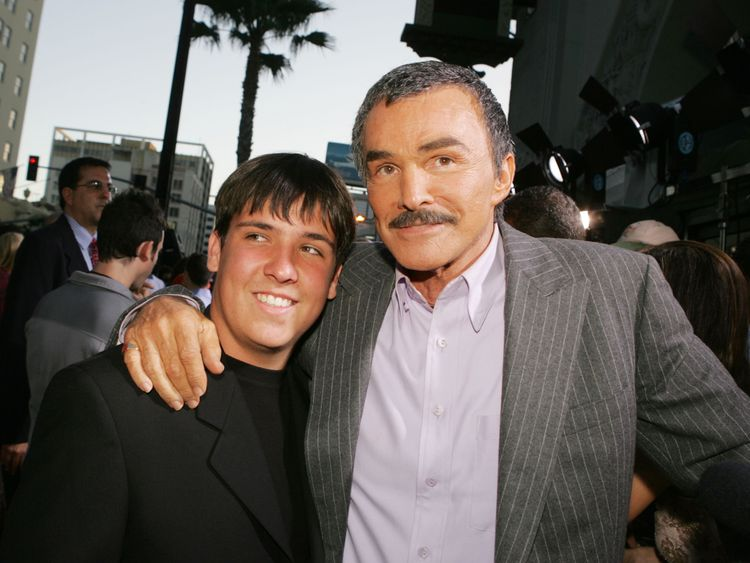LOS ANGELES - MAY 19: Actor Burt Reynolds and his son Quinton arrive at the premiere of Paramount Pictures' 'The Longest Yard' at the Chinese Theater on May 19, 2005 in Los Angeles, California. (Photo by Kevin Winter/Getty Images)