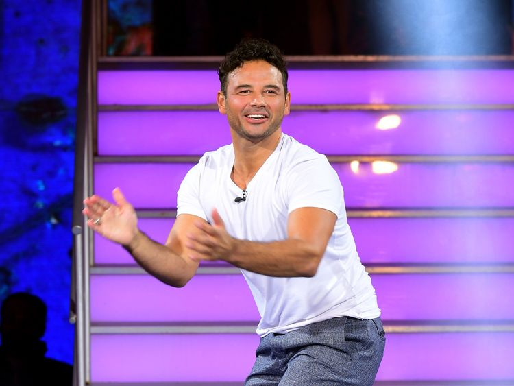 Winner Ryan Thomas leaves the Celebrity Big Brother house. Pic Ian West  PA Wire