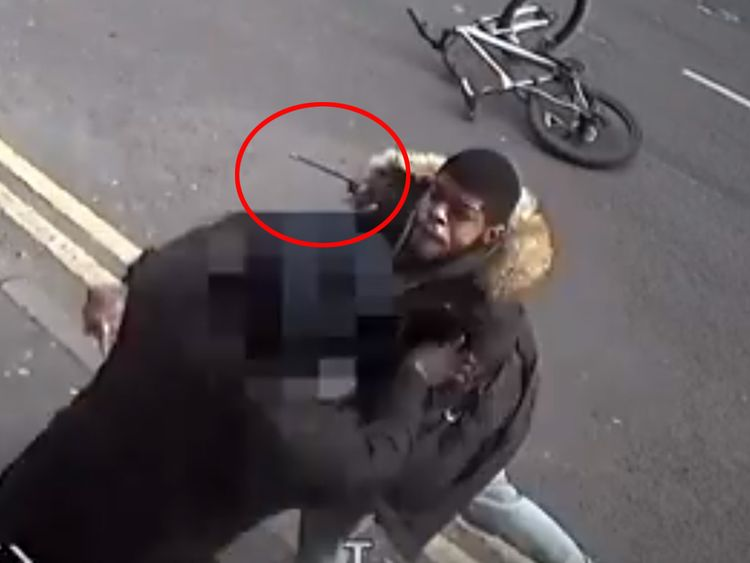 Cecil Samba caught on CCTV attacked a cyclist