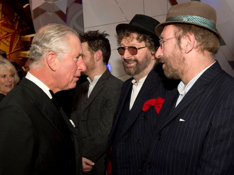 Chas and Dave (R) met Prince Charles at the Royal Variety Performance at the London Palladium Theatre in 2013