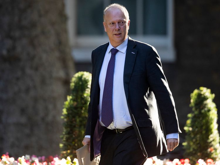 "The Transport secretary Chris Grayling was in attendance to hear Mr Carney's ""worst case"" scenario of a 'no-deal' Brexit"