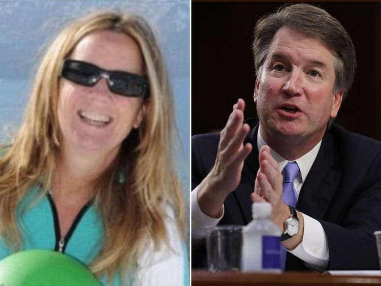 Christine Blasey Ford (pic: Researchgate.org) and Brett Kavanaugh