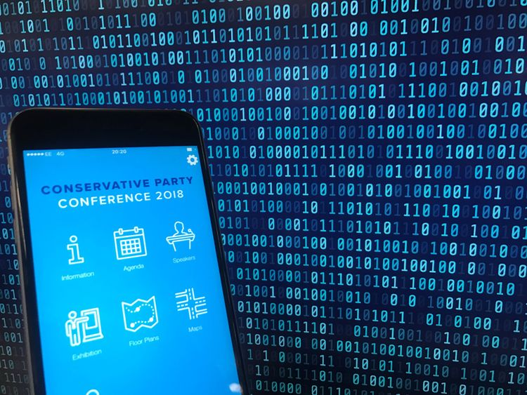 The data breach affected the official app for the Conservative Party Conference