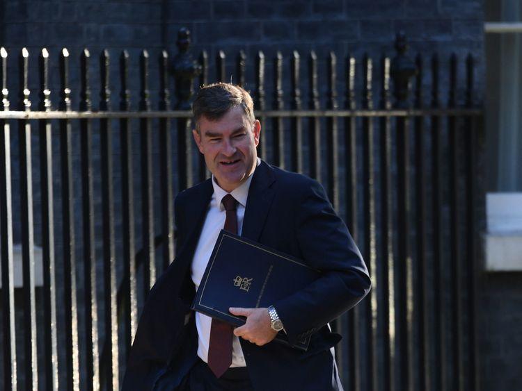Justice Secretary David Gauke arrives in Downing Street