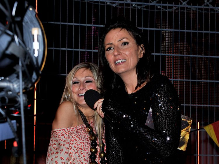Former Big Brother contestant Nikki Grahame with Davina McCall, who hosted the show on Channel 4 from 2000 to 2010