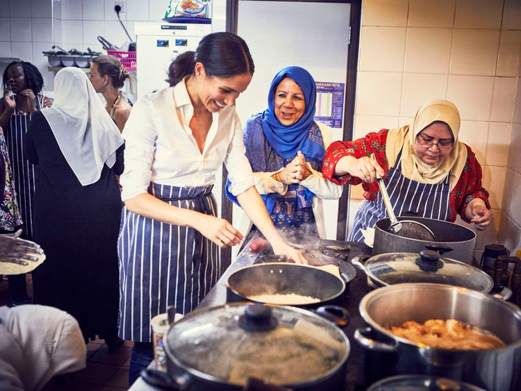 Meghan is supporting the work of a Grenfell kitchen. Pic: Jenny Zarins