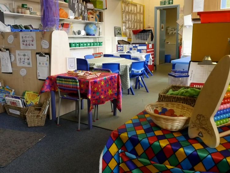 Tuel Lane Infant's School in Sowerby Bridge, Yorkshire,. Grab from Martin VT