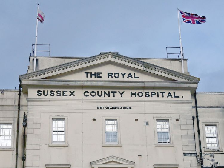 Joan Blaber was being treated at the Royal Sussex County Hospital