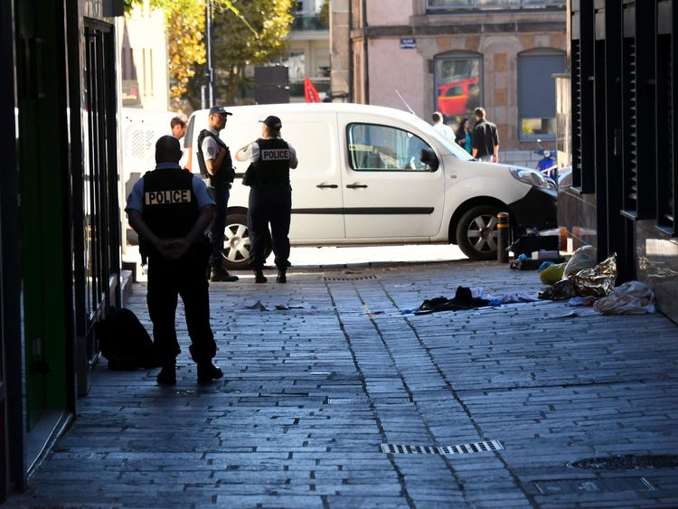 A man, 39, was arrested after fleeing the scene of the attack in Rodez in southern France