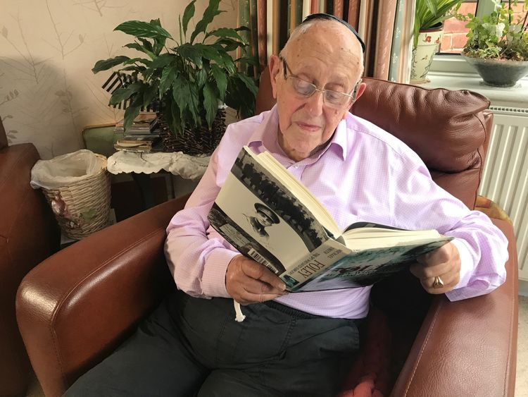 Mr Lachs reads a book about Foley and his incredible acts of bravery