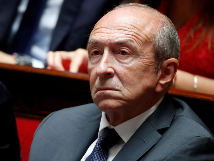 French Interior Minister Gerard Collomb