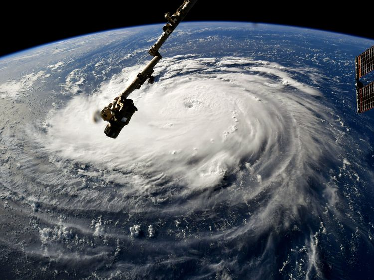 Hurricane Florence is gaining strength as it moves west