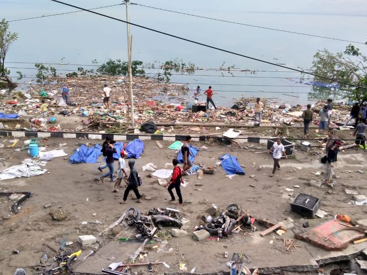 More than 830 dead as tsunami and quake devastate Indonesia