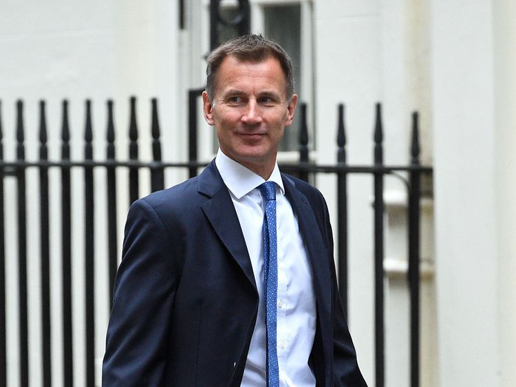 Foreign Secretary Jeremy Hunt arrives in Downing Street