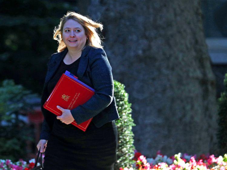 Secretary of State for Northern Ireland Karen Bradley arrives at Downing Street