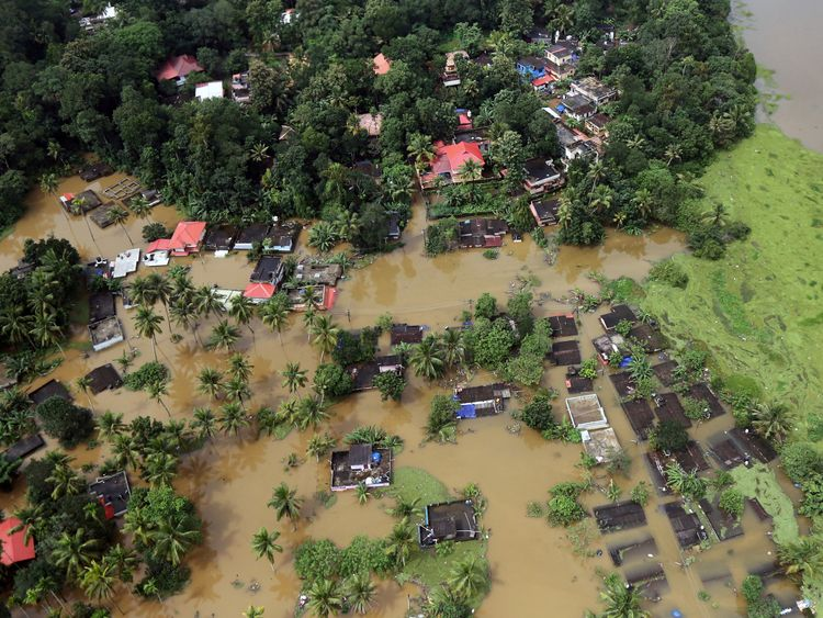 Villages have been cut off and partially submerged by the floods