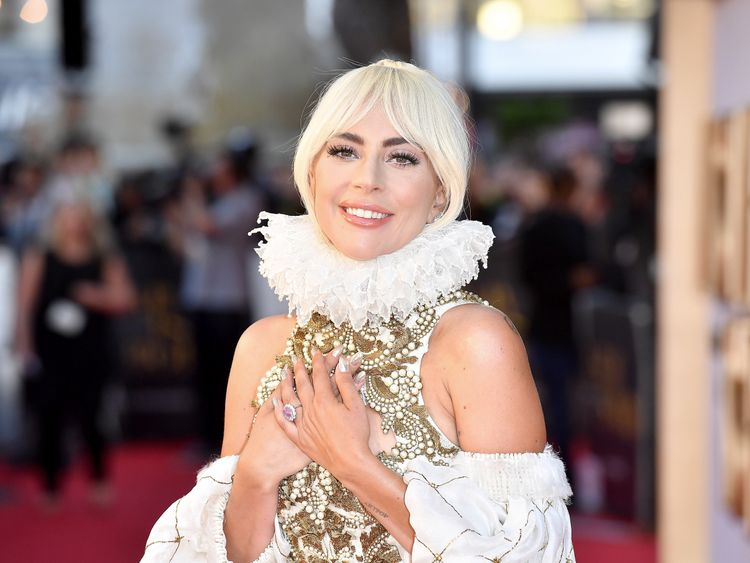 Lady Gaga at the UK premiere of A Star Is Born