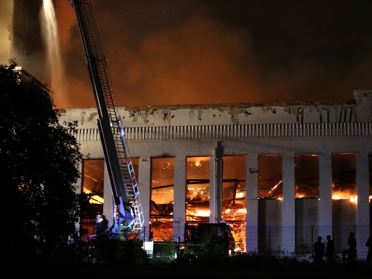 Huge fire at Liverpool's Littlewoods building