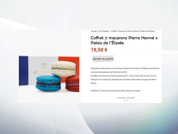The macaroons retail at €19.50 (£17.35) for seven