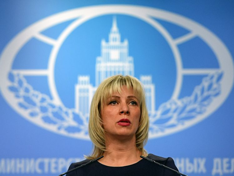 Russian Foreign Ministry spokeswoman Maria Zakharova says Theresa May is not informed