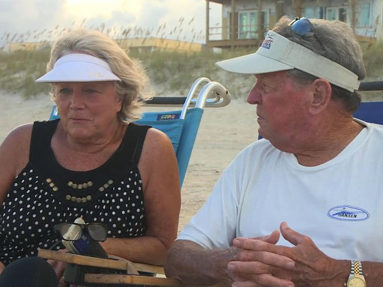 Martha and Jeddy fear losing their holiday cottages to Hurricane Florence