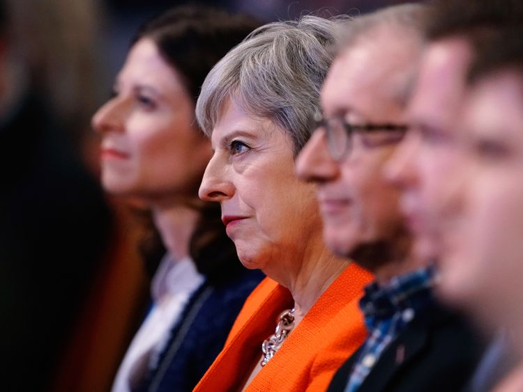 UK's May tells party to drop dream of a 'perfect' Brexit