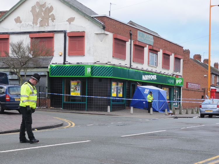 The attack happened at Paddy Power in Handsworth