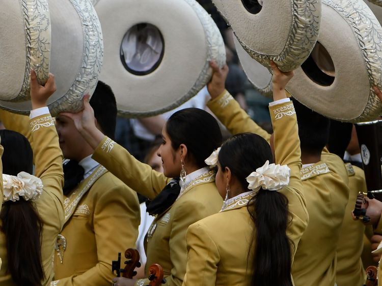 The gunmen were dressed like mariachi musicians. File pic