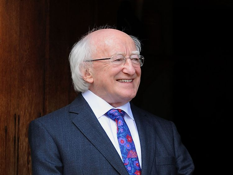 STRATFORD-UPON-AVON, UNITED KINGDOM - APRIL 11: Irish President Michael D. Higgins during a visit to Shakespeare's Birthplace on April 11, 2014 in Statford-upon-Avon, England. Ireland's Michael D. Higgins is making the first state visit by a president of the republic since it gained independence from neighbouring Britain. The visit comes three years after Queen Elizabeth II made a groundbreaking trip to the republic, which helped to heal deep-rooted unease and put British-Irish relations on a ne