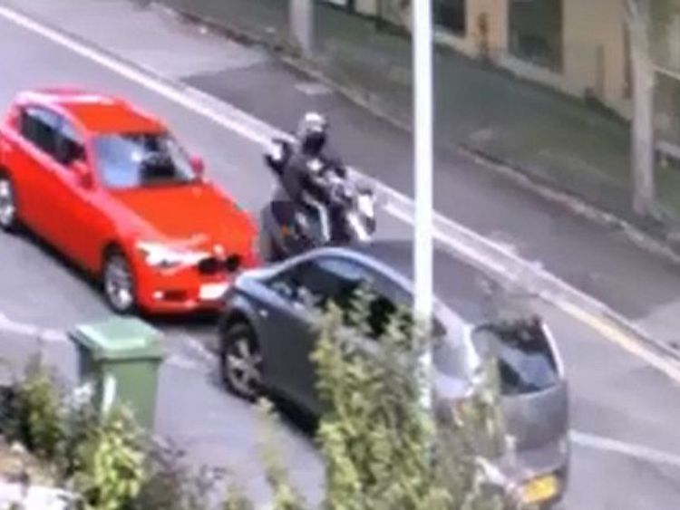 The moped driver failed to stop after the hit-and-run on Whitehawk Road in Brighton. Pic: Sussex Police