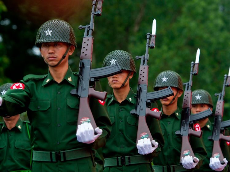 Myanmar's military has been criticised over the Rohingya crisis