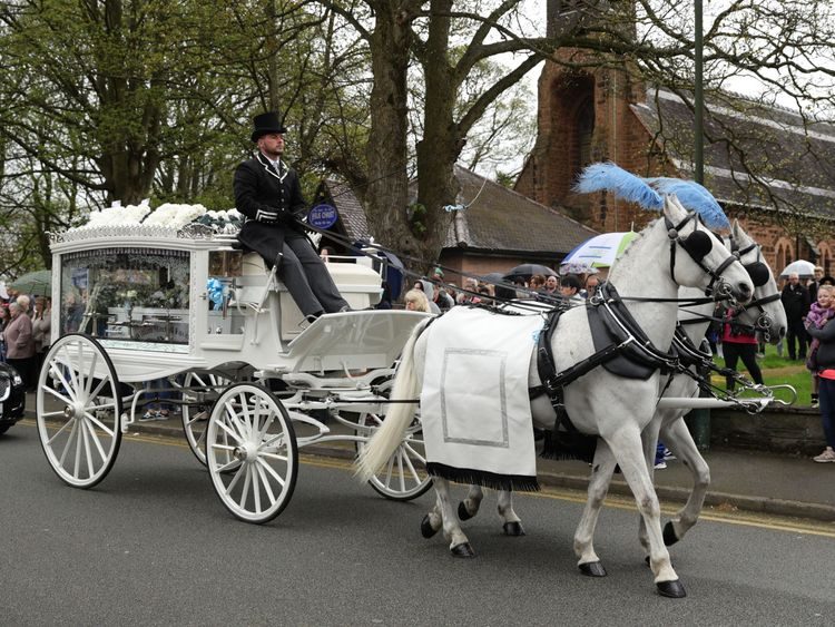 Mylee Billingham's funeral was held in Walsall in April this year