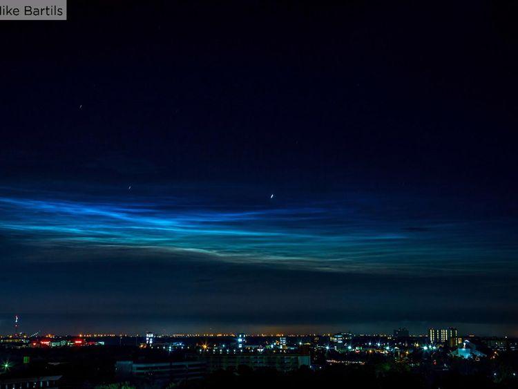 NASA balloon examines electric blue clouds