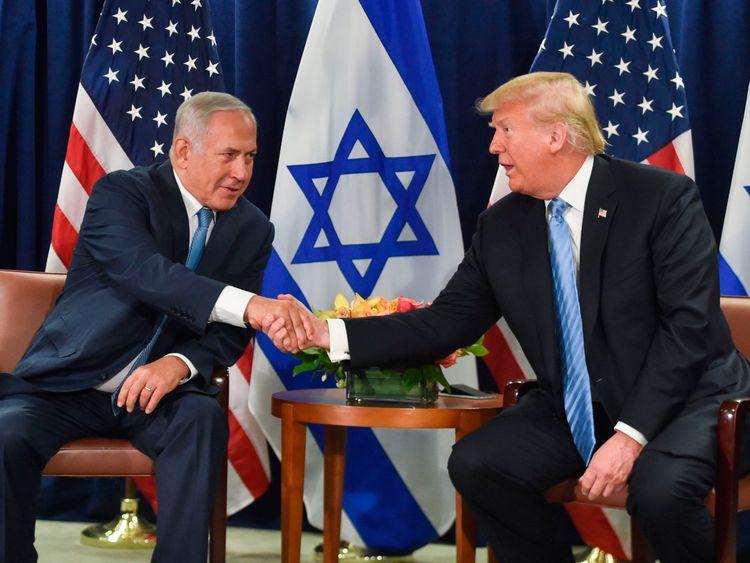 Mr Trump met Israeli prime minister Benjamin Netanyahu on the sidelines of the UN General Assembly