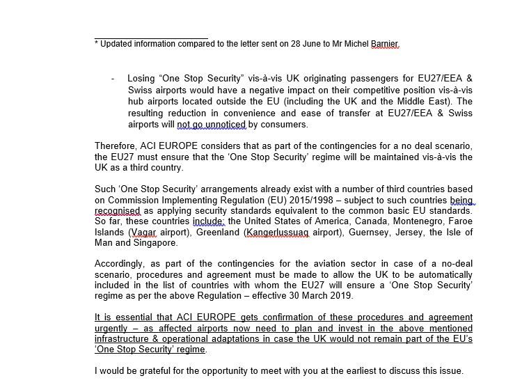 Leak reveals airport safety risks of 'no-deal' Brexit