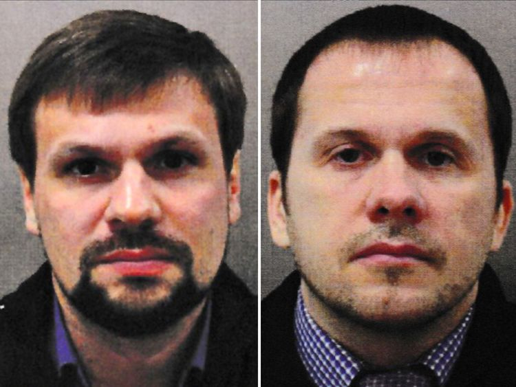 Ruslan Boshirov (left) and Alexander Petrov have been named as suspects
