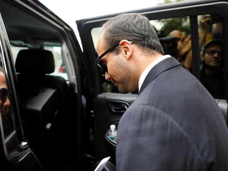 Papadopoulos leaves court after his sentencing