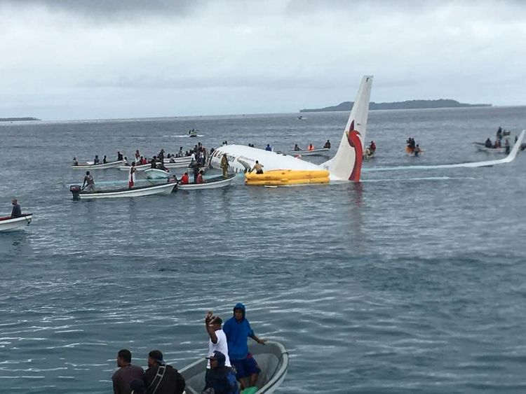 Man missing after plane sinks in Micronesia crash