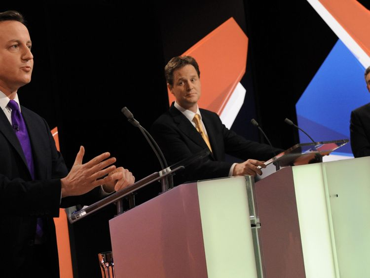 The first and only televised leaders' debate took place in 2010