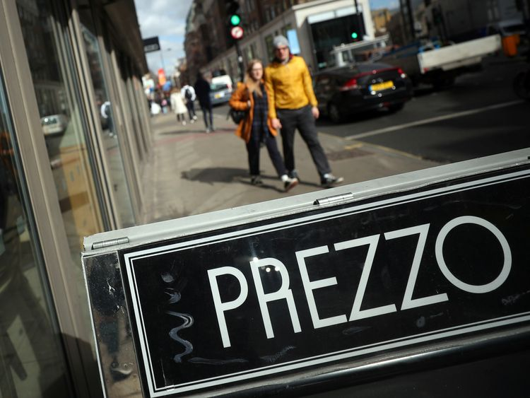 Prezzo is one of the chains the government says is taking 10% of tips