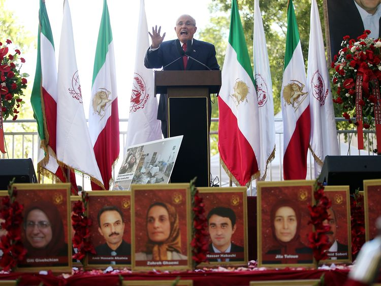 Rudy Giuliani, now Donald Trump's lawyer, spoke at an MEK event in 2013