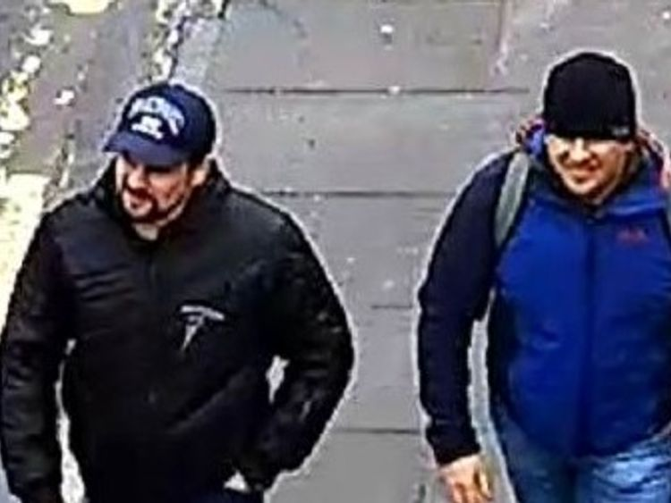 Johnson calls novichok suspects 'murderers' and dares them to sue