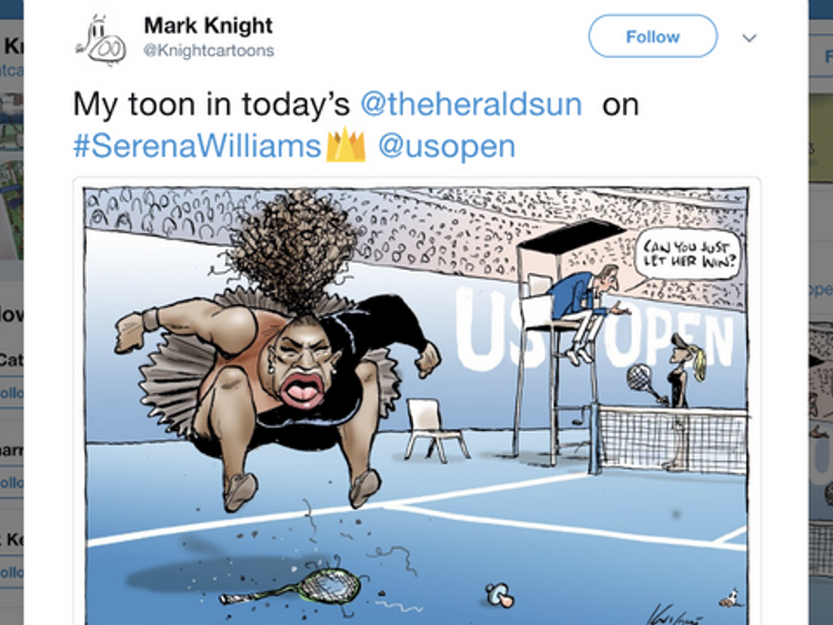 Cartoon criticised as 'racist' by Australian Mark Knight.